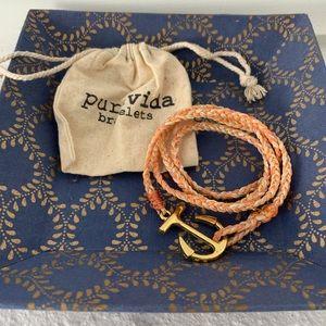 Pura Vida! Gold Anchor Wrap